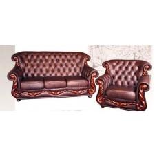 Диван индивидуальный Мебельная Лавка Chester кожа