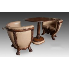 Комплект мягкой мебели Курьер тет-а-тет со столом