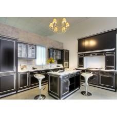 Кухня Мебельная Лавка МДФ крашенный черный матовый
