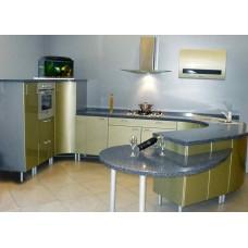 Кухня Мебельная Лавка МДФ крашенный оливковый глянец