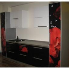 Кухня Мебельная Лавка МДФ крашенный черный комби глянцевый