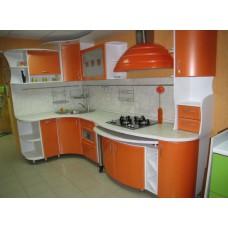 Кухня Мебельная Лавка МДФ крашенный оранжевый металик