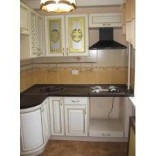 Кухня Мебельная Лавка МДФ пленочный белый с патиной
