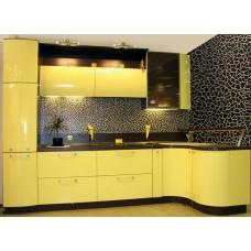 Кухня Мебельная Лавка МДФ крашенный глянцевый желтый