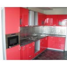 Кухня Мебельная Лавка МДФ пленочный красный глянец