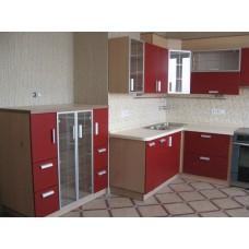 Кухня Мебельная Лавка МДФ пленочный красный матовый