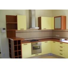 Кухня Мебельная Лавка МДФ пленочный желтый матовый