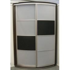 Шкаф-купе с радиусным фасадом Мебельная Лавка № 205