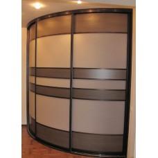 Шкаф-купе с радиусным фасадом Мебельная Лавка № 210