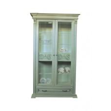 Витрина ЮрВит Эдельвейс 2-х дверная с ящиком