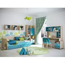 Детская комната Бриз КВ бирюзовая
