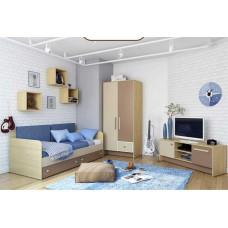 Детская комната Бриз КВ коричневая