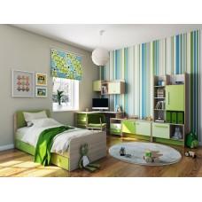 Детская комната Бриз КВ зеленая
