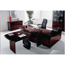 Кабинет на заказ Мебельная Лавка 002 темная вишня