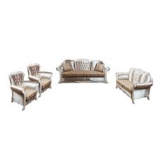 Комплект мягкой мебели Лотос–М Аспендос белое дерево