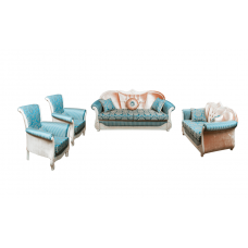 Комплект мягкой мебели Лотос–М Эльпаз белое дерево