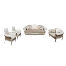 Комплект мягкой мебели Лотос–М Эсма белое дерево