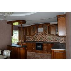 Кухня Мебельная Лавка Дерево темный орех