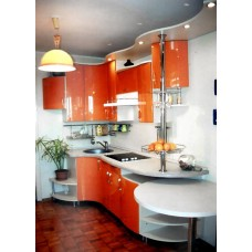 Кухня Мебельная Лавка МДФ крашенный глянцевый оранжевый
