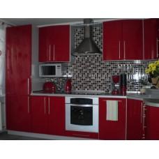 Кухня Мебельная Лавка МДФ крашенный красный глянец