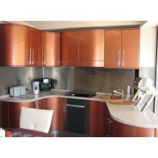 Кухня Мебельная Лавка МДФ крашенный персиковый глянецевый