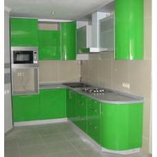 Кухня Мебельная Лавка МДФ крашенный зеленый глянец