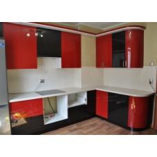 Кухня Мебельная Лавка МДФ крашенный глянец комби