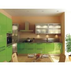 Кухня Мебельная Лавка МДФ крашенный глянцевый зеленый