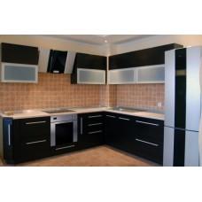 Кухня Мебельная Лавка МДФ пленочный матовый черный