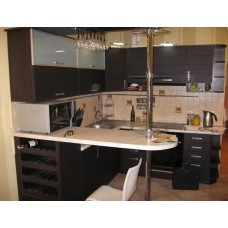 Кухня Мебельная Лавка МДФ пленочный матовый венге темный