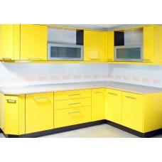Кухня Мебельная Лавка МДФ пленочный желтый глянцевый