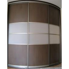 Шкаф-купе с радиусным фасадом Мебельная Лавка № 204