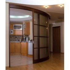 Шкаф-купе с радиусным фасадом Мебельная Лавка № 207