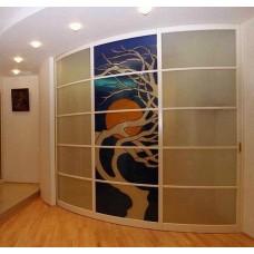 Шкаф-купе с радиусным фасадом Мебельная Лавка № 209
