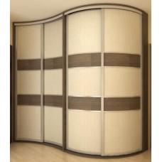 Шкаф-купе с радиусным фасадом Мебельная Лавка № 212